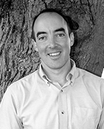 Black and white photograph of Brendan Kane